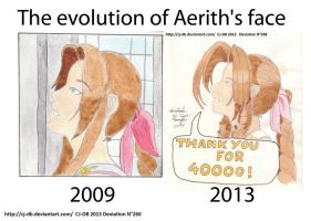 The evolution of Aerith's face by CJ-DB