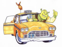 SHREK CAB by Jerome-K-Moore
