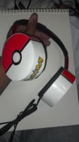 Pokeball headphones by Higaru