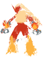 Blaziken Paint Splatter (Request) by HollysHobbies