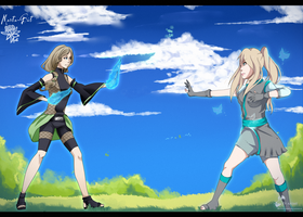 Collab The Battle with Laurenki-chan by Marta-Bit