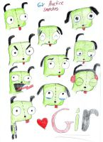 Gir practice sketches! ((Re-Upload)) by Ilovesouthparkyaoi