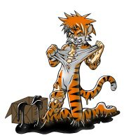 Tiger Costume-Latex-Slime TF by Rei98