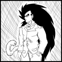 Artistic Scratch Art of Raditz by Paradise-of-Darkness