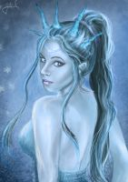 Ice Queen Self Portrait by charligal