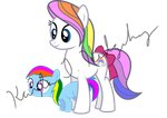 First Born and Baby Rainbow Dash by kaylathehedgehog