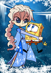 elsa and spongebob by EZstrongs