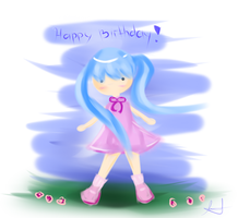 Happy Birthday for my cousin by AshiotoPiko