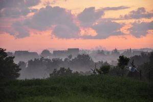 fogy sunset stock by marlene-stock