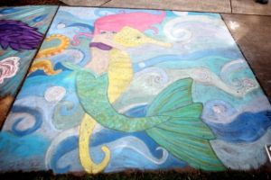 Chalk Fest Mermaid by FairyAnts