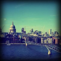 View from the Tate Modern by cherrypieman