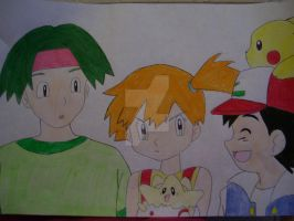 Tracey, Misty, and Ash by AJLeefan4life