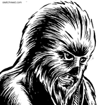 Chewie (Detail) by SketchXReed