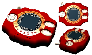 my red Digivice by portadorX