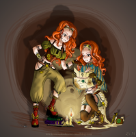 Steampunk Twins by Ai-Lilith
