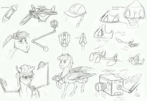 Equestrian Technology rough concepts by Earthsong9405