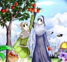 Josephine and Yusra in a Beautiful Place by sakura02