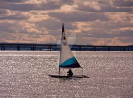 Sailing on the River II by DundeePhotographics