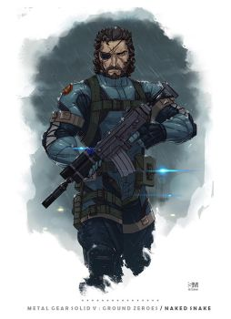 Metal Gear Solid V: Ground Zeroes - Naked Snake by BrokenNoah