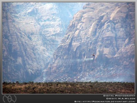 Helicopter Over Redrock Canyon by Pookinator
