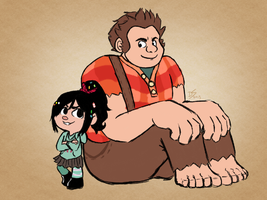 wreck-it ralph by devi-san