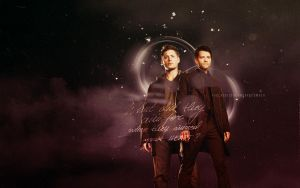 What Did They Aim For {Dean x Castiel Wallpaper} by HeartlessMia