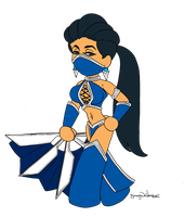 chibi Kitana by DeVanceArt