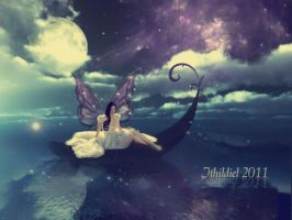Moonlight on dark waters by Ithildiel