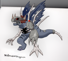 Skullmetalgreymon by charizardproduccion7