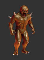 Doom Imp Mudbox Render Work In Progress by s13n1
