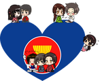 Asian Countries Shimeji Heart by LadyAxis