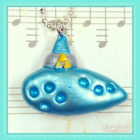 Ocarina of Time Clay Pendant by Comsical