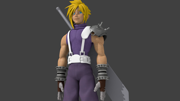 Cloud Strife Test 3 by RakuNana