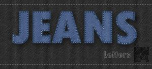 Jeans Letters (PSD) by OrchidGrpahics