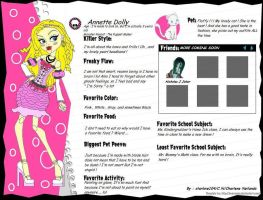 Monster High OC Annette Dolly by starlove104