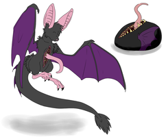 Egg Hatched - DragonBat by ShadowInkAdopts