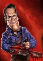 ASH VS EVIL DEAD by JaumeCullell