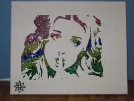 Perrie Edwards Little Mix Glitter Painting WIP 2 by sphili