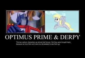 Optimus Prime and Derpy by TheGreenMachine987