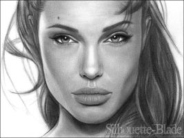 Angelina Jolie by Silhouette-Blade
