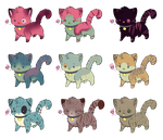 Open Chibi Cat Adoptables by FayAdopts