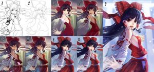 Reimu Progress by Lightning-Spirit