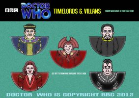 Doctor Who - Timelords and Villans by mikedaws