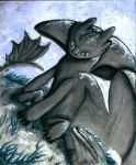 Toothless Watercolor by GoldenGriffiness
