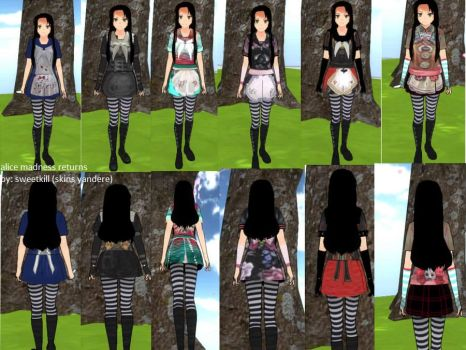 Alice Madness Returns skins yandere simulator by skinsyandere