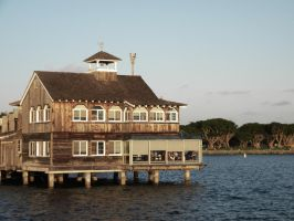 Restaurant on the ocean by TheDisappearingGirl