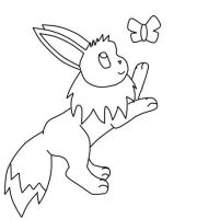 Eevee Butterfly Lineart by Horses774