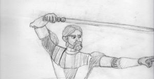 Clone Wars Obi Wan Pencil by GamerZzon