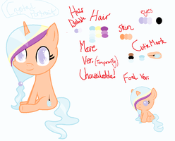 Mlp - Crystal Portrait (NEW OC) Reference by 1-RainbowSmile