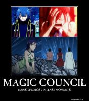 Magic Council .... destroys romantic moment by Misa-Misa007